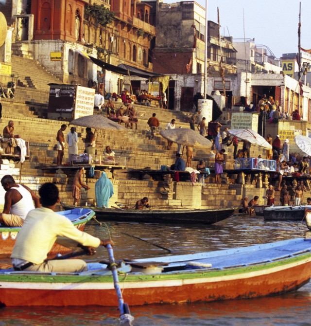 El Ganges, en barca