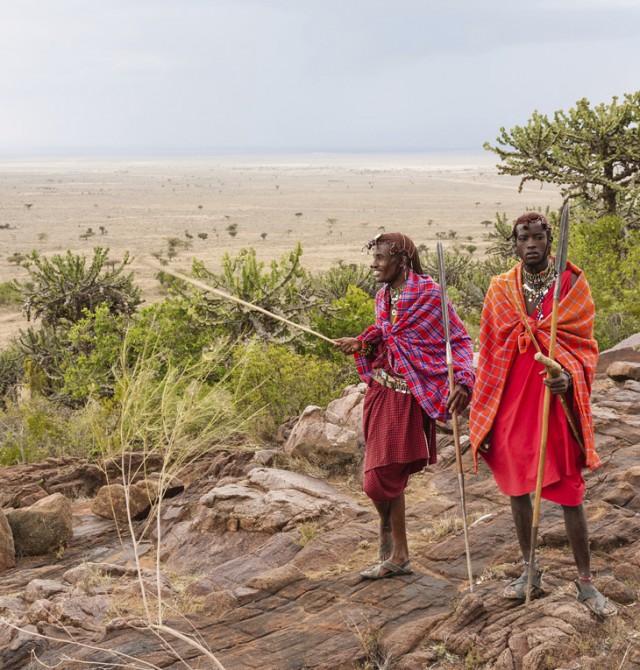 Guerreros Masái en Kenia