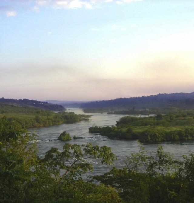La fuente del Nilo en Uganda