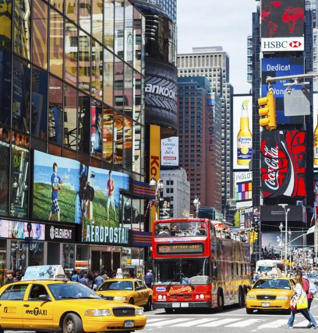 Times Square, Nueva York en Estados Unidos y México