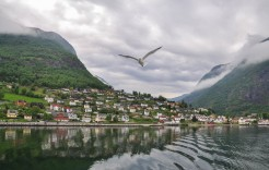 Aurlandsfjord en Noruega