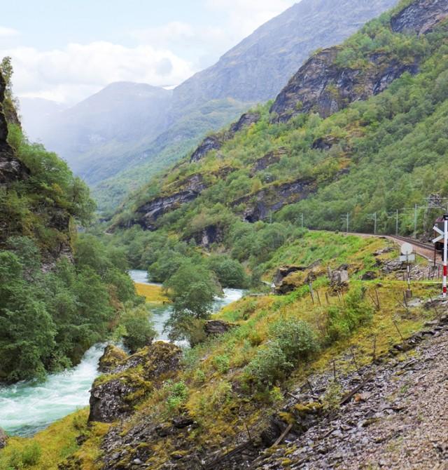 En tren por Noruega en Noruega