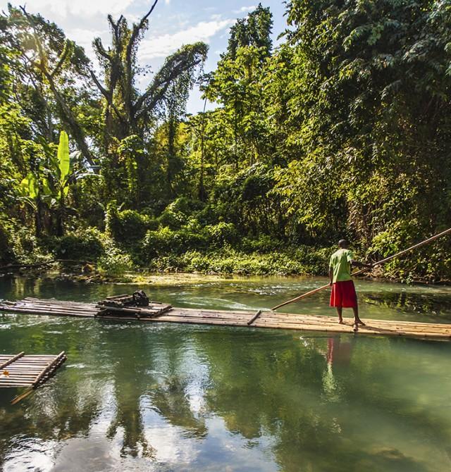Río abajo en Jamaica