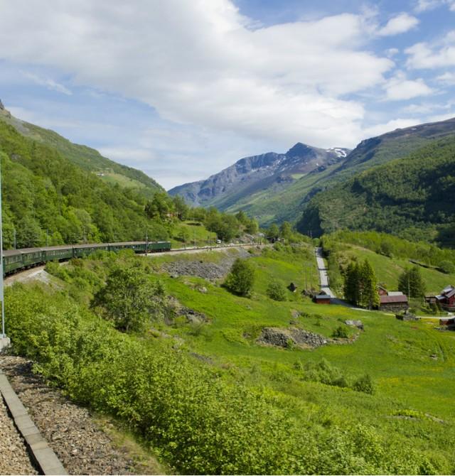 Travesía en tren en Noruega
