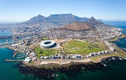 Vista aérea de Ciudad El Cabo en Sudáfrica