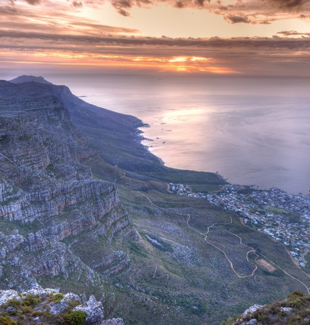 A vista de pájaro en Sudáfrica
