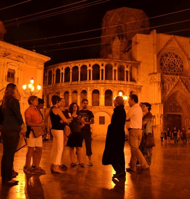 Valencia de noche en Valencia
