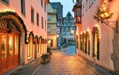 Las calles de Rotemburgo en Alemania y Austria