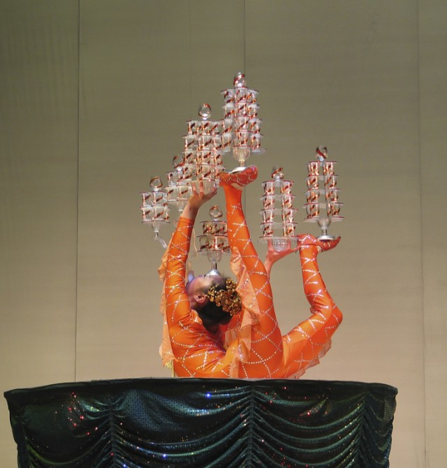Espectáculo acrobático en China