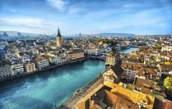 Panorámica de Zurich en Suiza