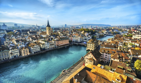 Panorámica de Zurich. Viaje a Suiza con PANGEA The Travel Store