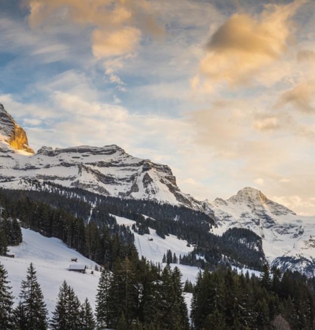 Puesta de sol en Suiza