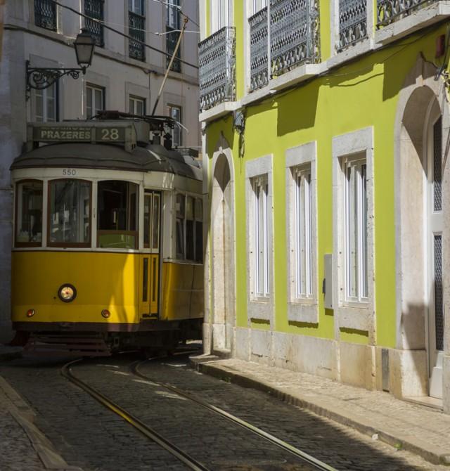 El tranvía 28 en Portugal