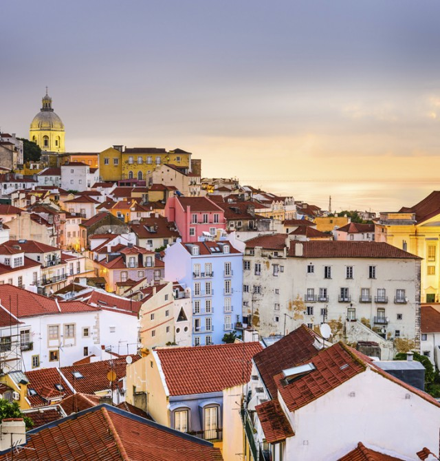 Alfama tradicional en Portugal