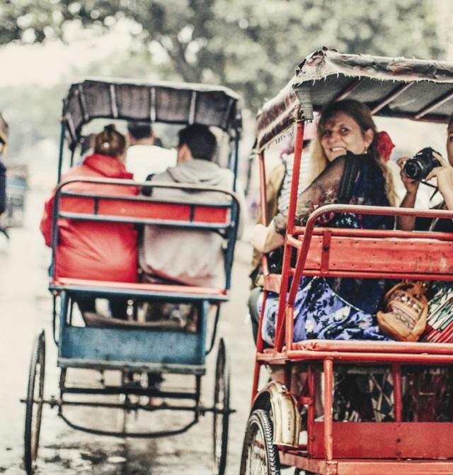 En Rickshaw por Delhi