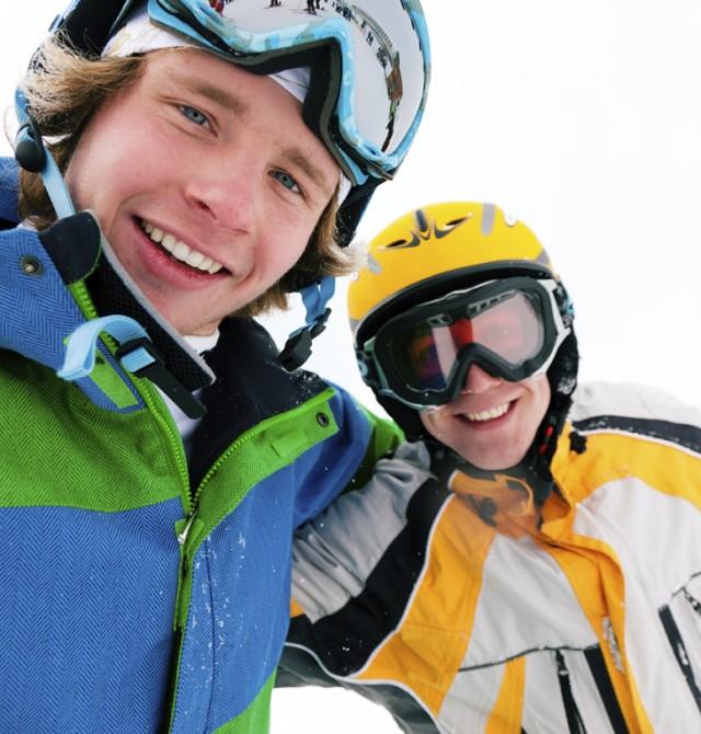 Esquiar entre amigos
